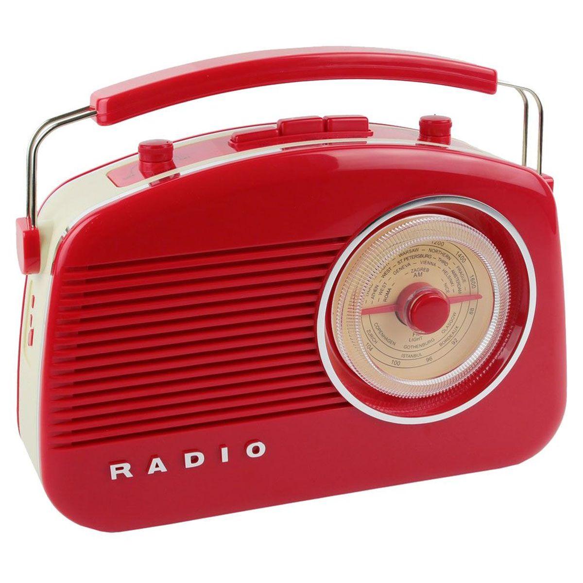 radio rouge vintage r tro 60 39 s fonction bluetooth. Black Bedroom Furniture Sets. Home Design Ideas