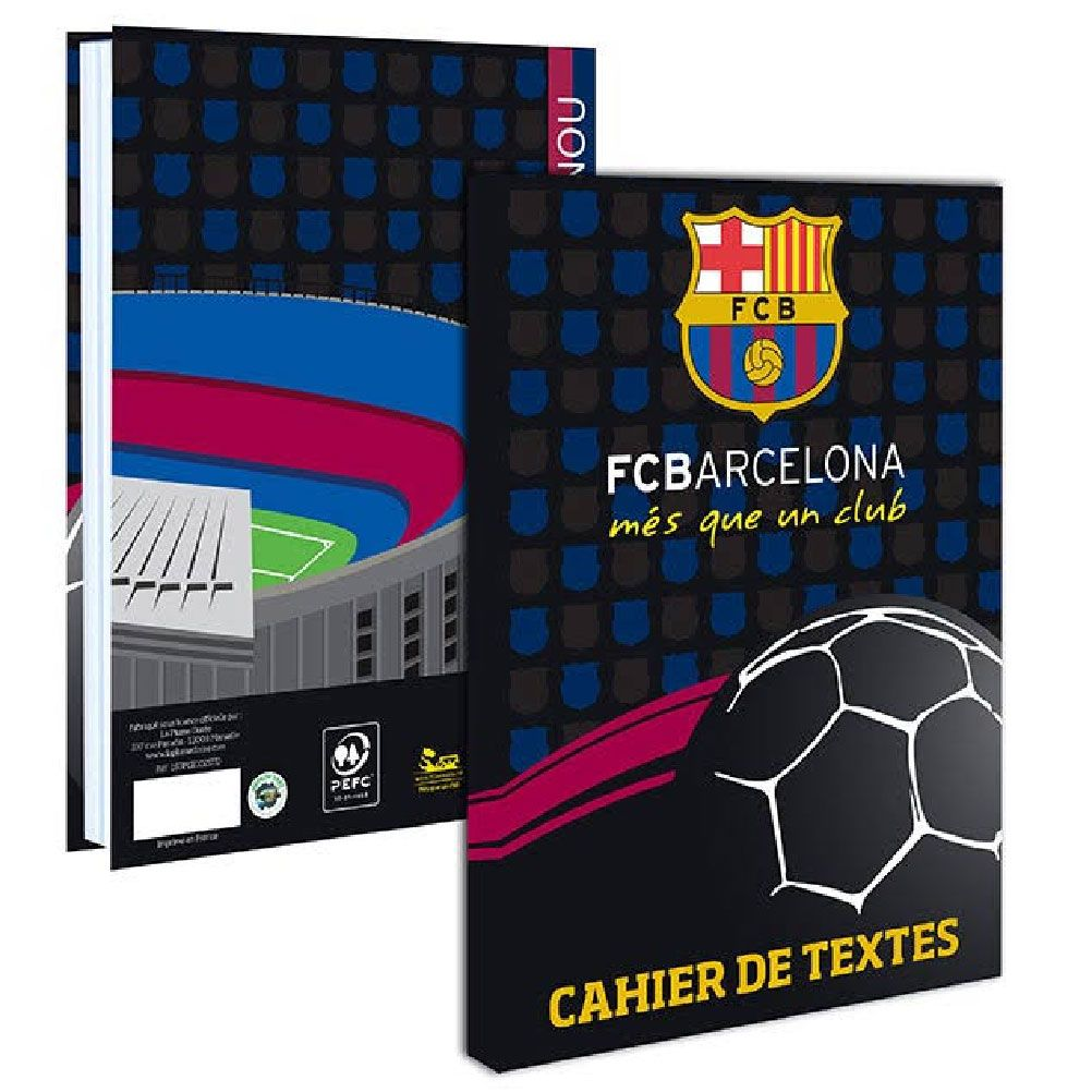 agenda de texte fc barcelone cahier de texte scolaire. Black Bedroom Furniture Sets. Home Design Ideas
