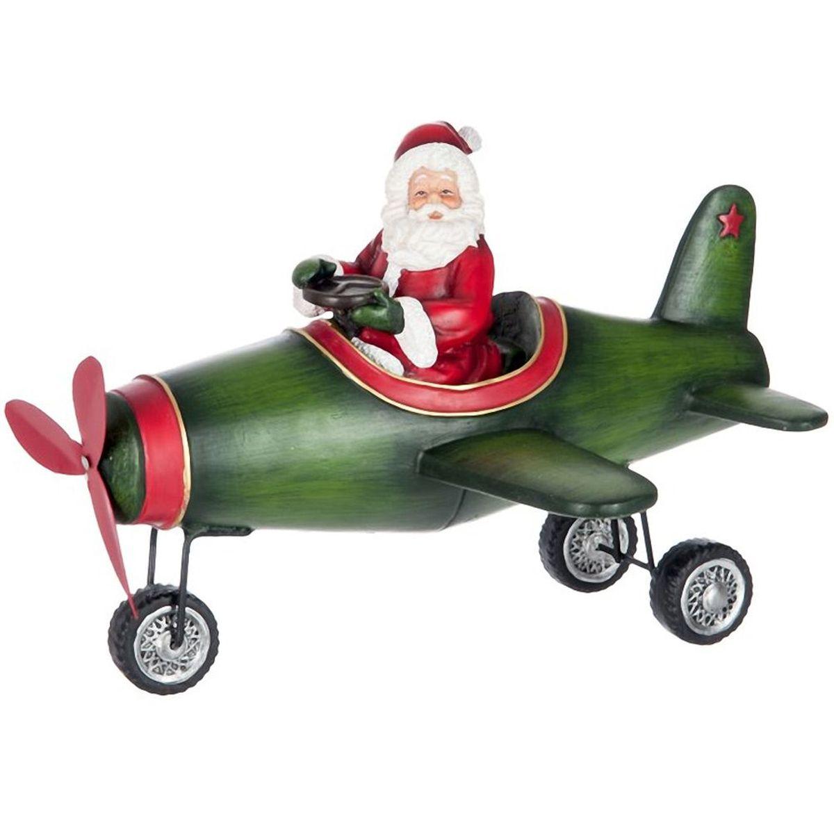 P re no l aviateur en r sine 30 cm - Calecon pere noel ...