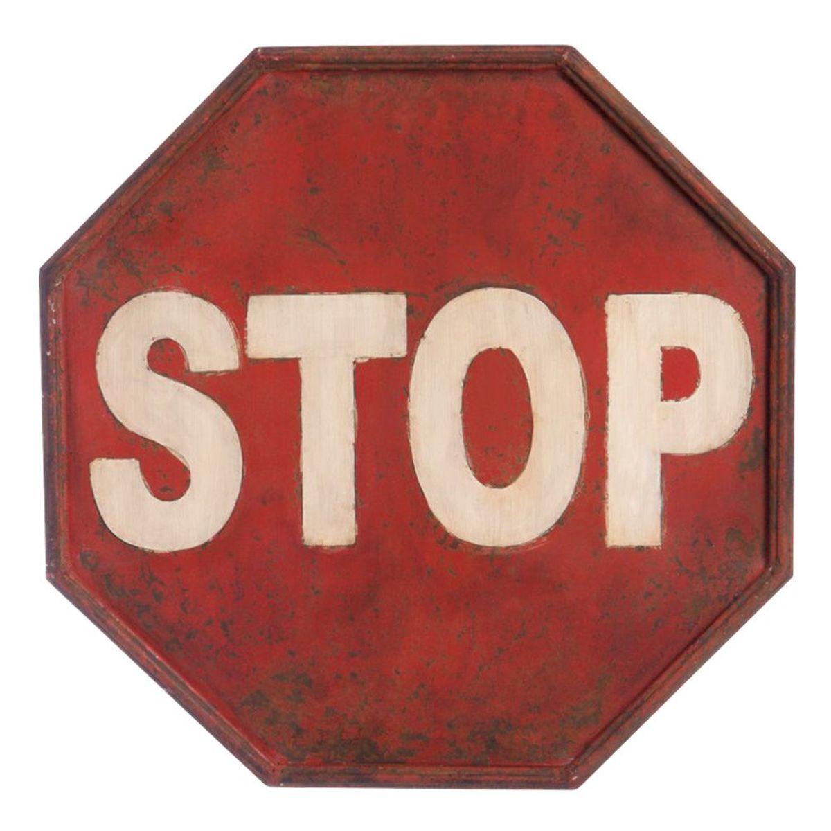 panneau stop patin plaque d corative r tro en m tal 40 x 40 cm. Black Bedroom Furniture Sets. Home Design Ideas