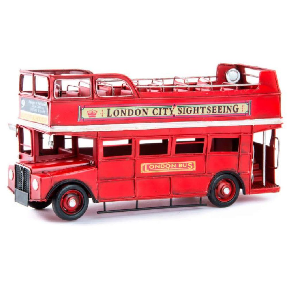 london bus anglais r tro de d coration en m tal vieilli. Black Bedroom Furniture Sets. Home Design Ideas