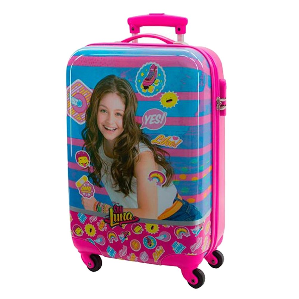 valise soy luna disney rose et bleu 48 cm. Black Bedroom Furniture Sets. Home Design Ideas