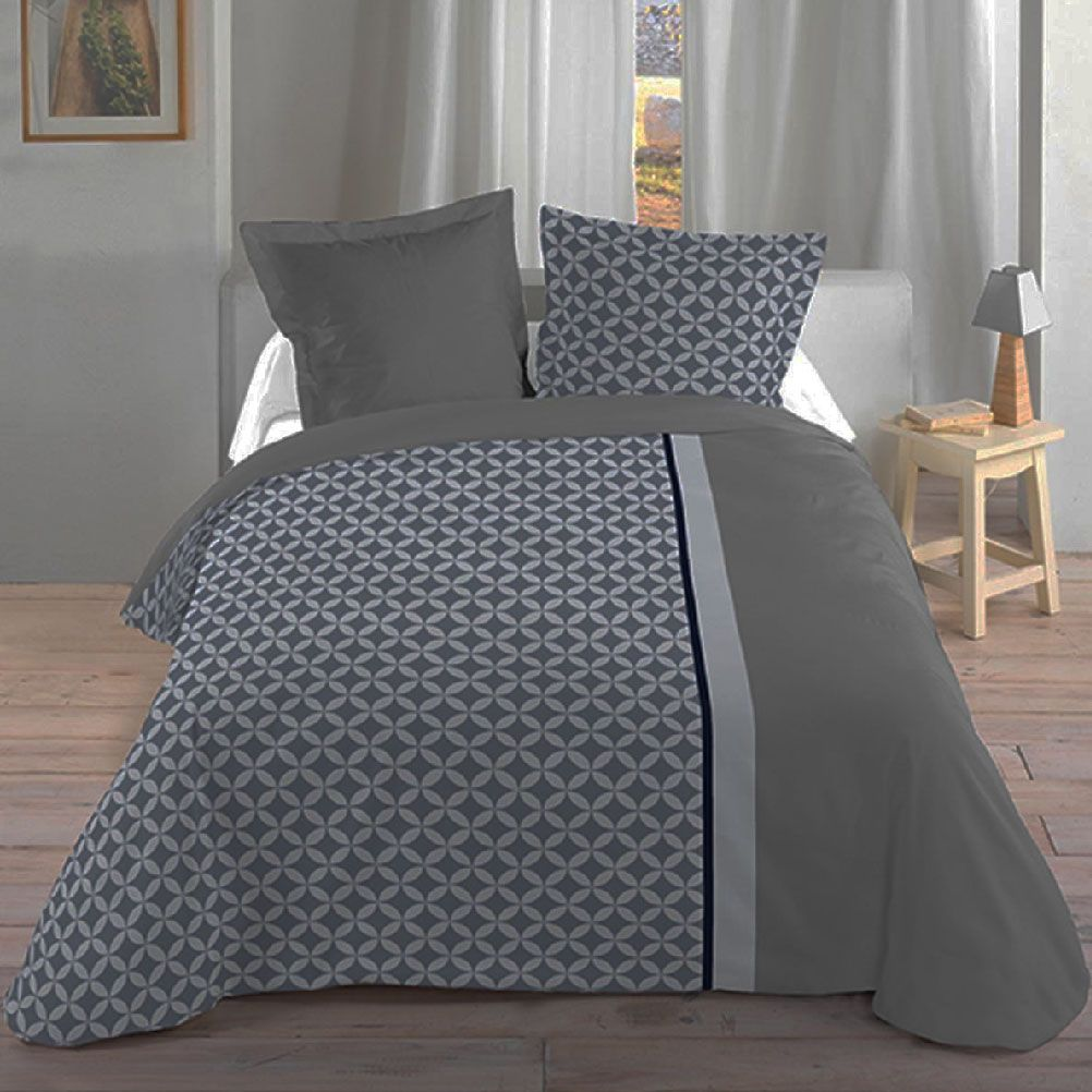Housse de couette parure de lit housse de couette geoffrey for Housse de couette ou couvre lit
