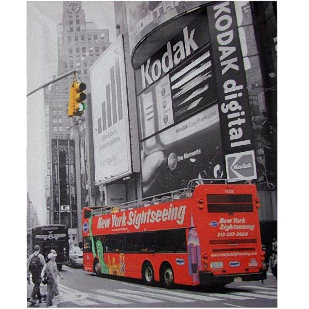 cadre en toile imprim e new york city 50 x 40 cm. Black Bedroom Furniture Sets. Home Design Ideas