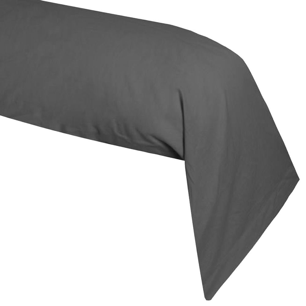 une taie de traversin anthracite alicia 45 x 185 cm. Black Bedroom Furniture Sets. Home Design Ideas