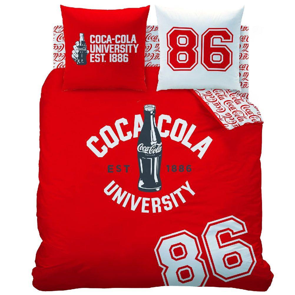 Housse de couette parure de lit 220 x 240 cm enfant fille literie linge de maison coca cola 1886 - Housse de couette coca cola ...