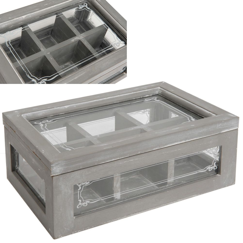 boite th caf rangement cuisine alimentaire cadeaux capsule boite th compartiment e effet patin. Black Bedroom Furniture Sets. Home Design Ideas