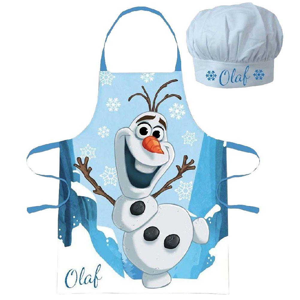 Tablier Olaf et toque pour enfant - Set cuisinier