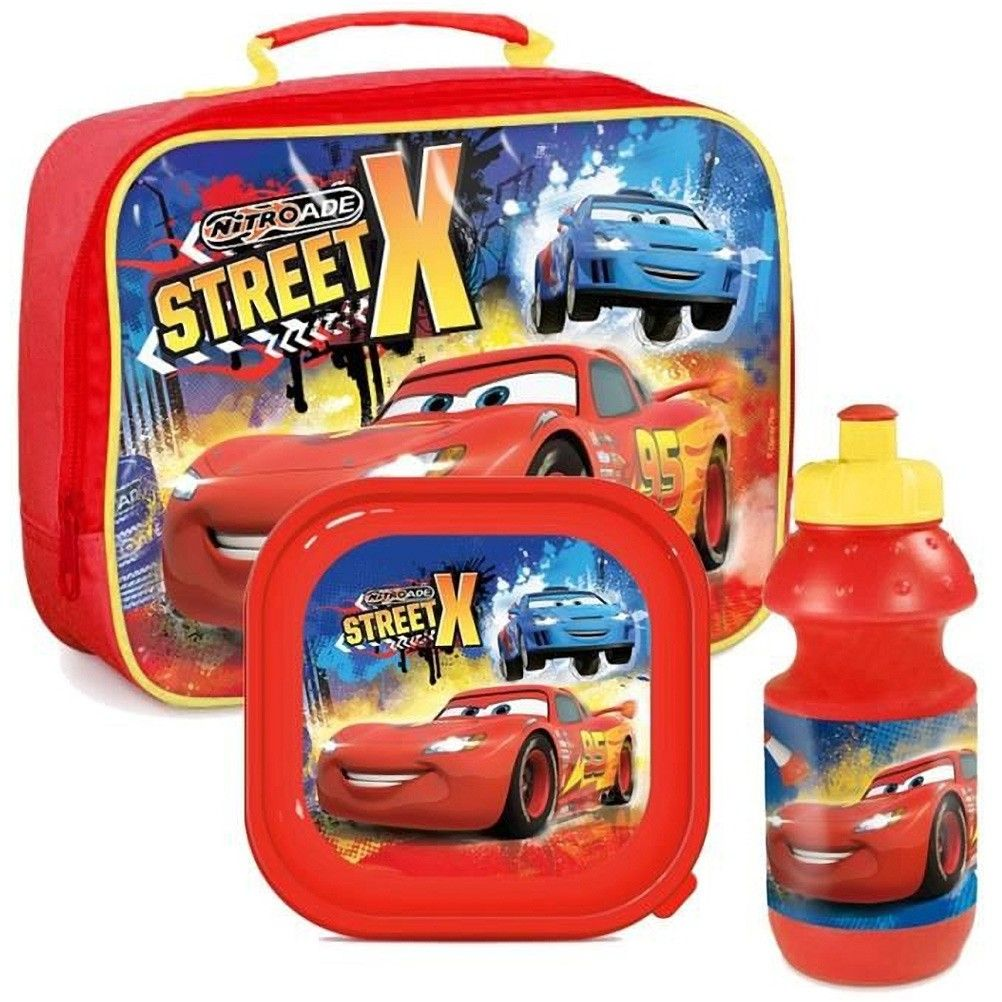 Boite à gouter Cars avec gourde et sac Disney Flash McQueen a3f77fe89be