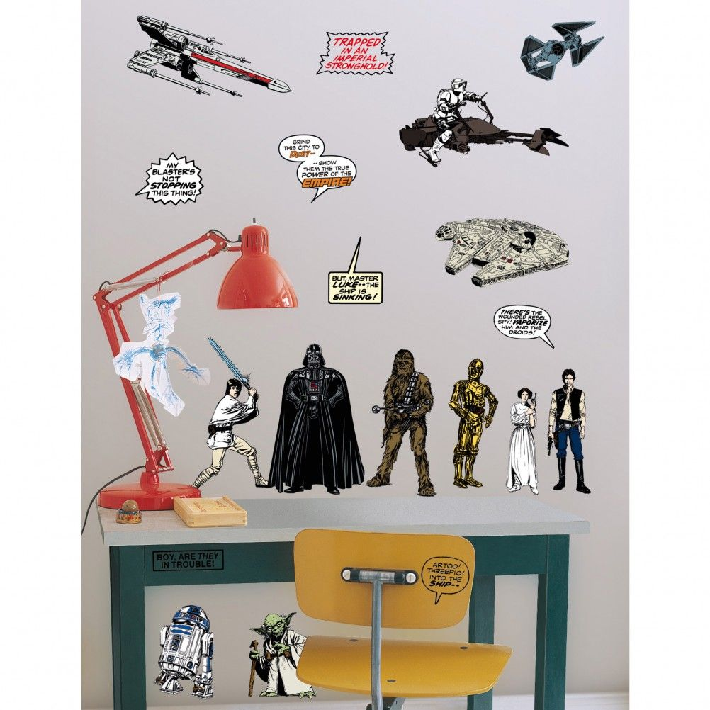 stickers muraux star wars 20 stickers. Black Bedroom Furniture Sets. Home Design Ideas