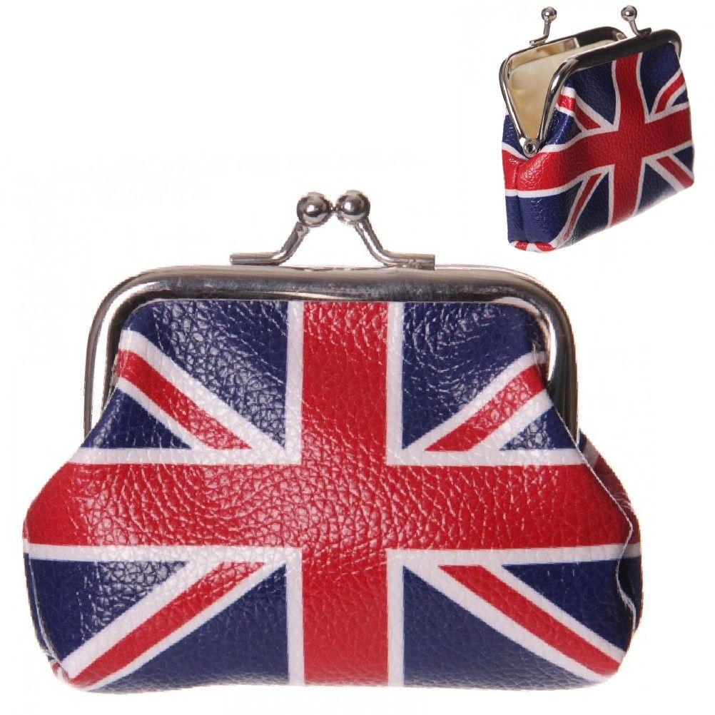 Porte monnaie homme femme cadeau london drapeau anglais union jack clic clac - Clic clac en anglais ...