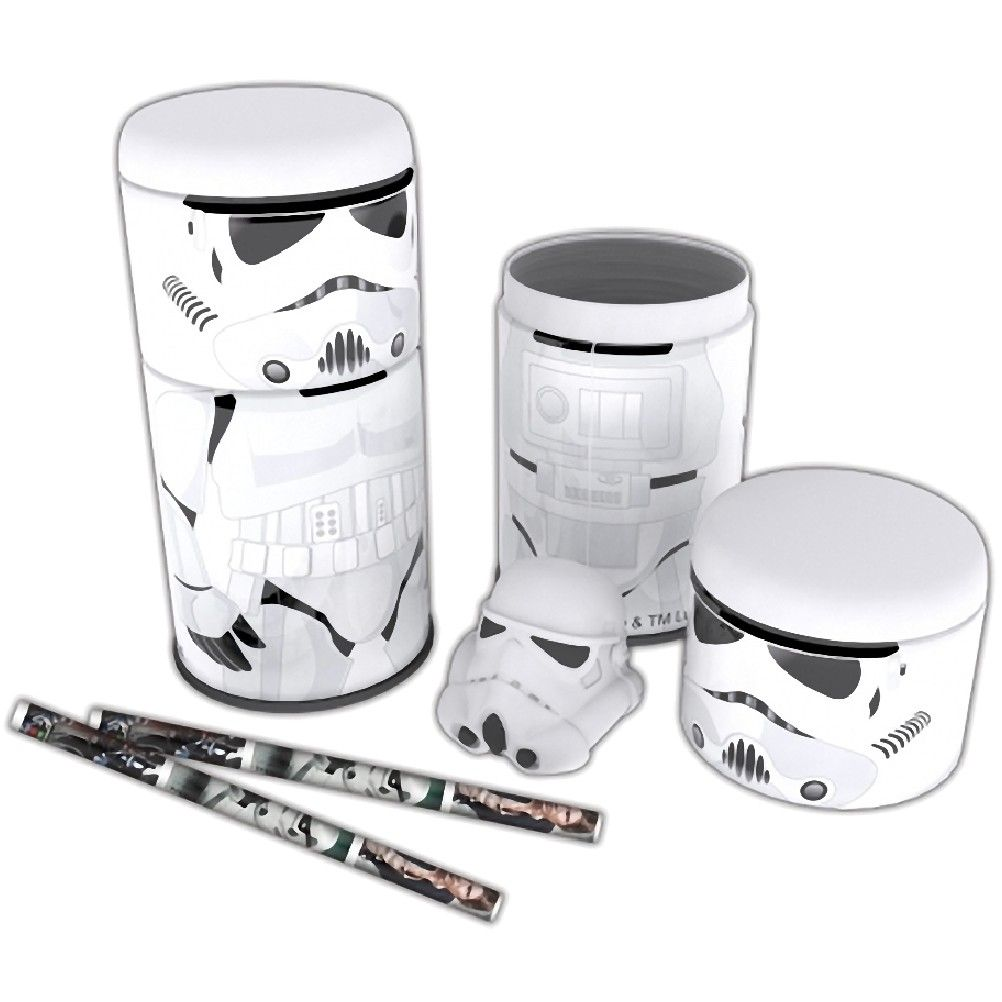 pot papeterie d co scolaire ecole crayon stormtrooper star wars pour le bureau. Black Bedroom Furniture Sets. Home Design Ideas