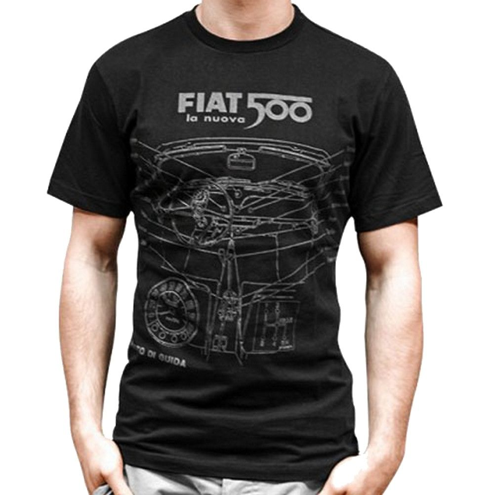 t shirt homme fiat 500 noir. Black Bedroom Furniture Sets. Home Design Ideas
