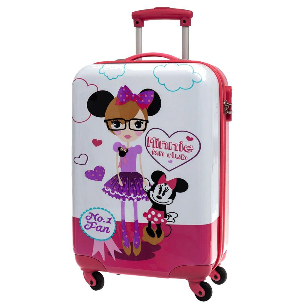 valise disney minnie fan club 60 cm. Black Bedroom Furniture Sets. Home Design Ideas