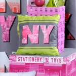 Coussin déhoussable New York Gotham Fluo