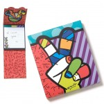 Bloc note Peace and Love by Romero Britto