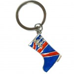 Porte clés London en métal - Botte Union Jack