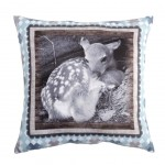 Coussin Faon collection Faune 50 x 50 cm