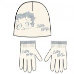 Set Bonnet et Gants Betty Boop beige 6-12 ans