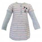Robe Minnie Mouse Baby gris chiné