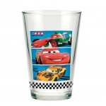 Verre à jus de fruit Disney Cars Flash McQueen Team