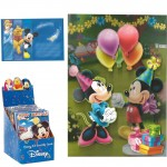Carte Anniversaire 3D Mickey et Minnie Mouse bouquet de Ballons