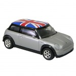 Mini Cooper Miniature Grise Union Jack