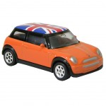 Voiture Mini Cooper Miniature Orange Union Jack
