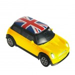 Mini Cooper Miniature Jaune Union Jack