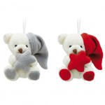 Peluches Oursons en lot de 2 - Ornement de sapin 7 cm