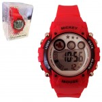 Montre Digitale Disney Mickey Mouse Rouge