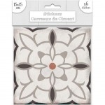 Stickers carreaux de ciment 15 x 15 cm - par 6 - Taupe