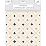Stickers carreaux de ciment 15 x 15 cm - par 6 - Beige et Or
