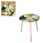 Table d'appoint motif Toucan - diamètre 40 cm