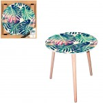 Table d'appoint motif Jungle - diamètre 40 cm