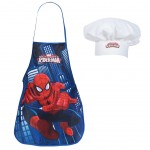 Tablier enfant Spiderman et Toque