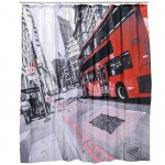 Rideau de douche London Bus 180 x 180 cm