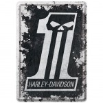 Carte postale plaque métal Harley Davidson The one