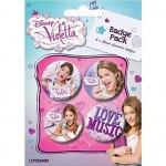 Badges Violetta Disney - Set de 4