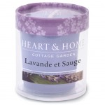 Bougie Votive Heart and Home 15 heures - Lavande et sauge