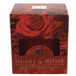 Bougie Votive Heart and Home 15 heures - Rose Rouge