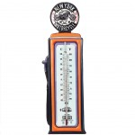 Pompe à essence Thermomètre en métal 47 cm - Orange