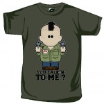 T-shirt Weenicons You Talking to Me Kaki