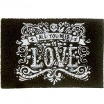 Paillasson en Fibres de coco All You Need Is Love