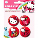 Badges Hello Kitty - 4 pièces