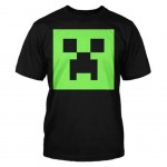 T-shirt Minecraft - Glow in the dark face - Taille S