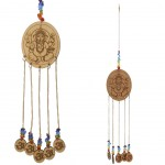 Suspension Feng Shui Ganesh en bois 40 cm