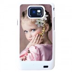 Coque Samsung S2 blanche avec PHOTO PERSONNALISEE