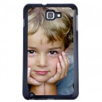 Coque Galaxy Note noire avec PHOTO PERSONNALISEE