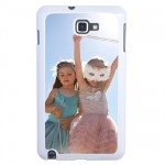 Coque Galaxy Note blanche avec PHOTO PERSONNALISEE
